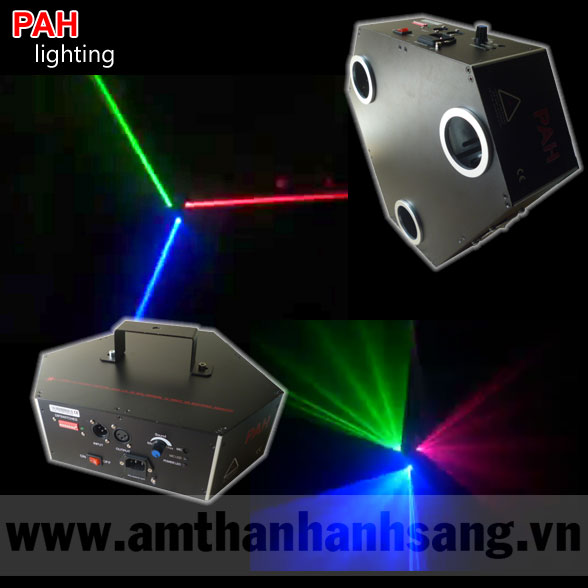 Đèn laser trung tâm 3 tia RGB