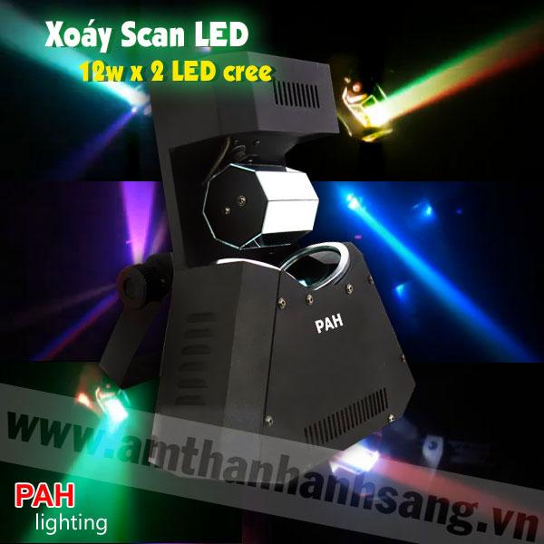 Đèn xoáy scan LED 12w x 2 LED cree