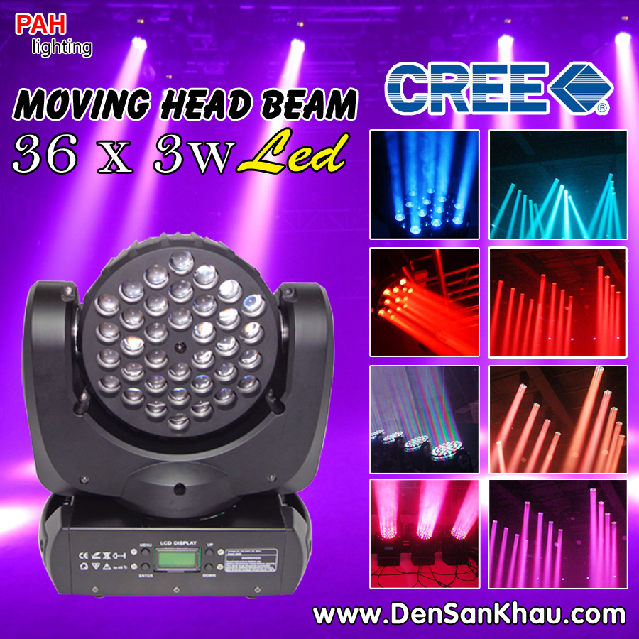 Đèn moving head beam LED 36*3w RGBW