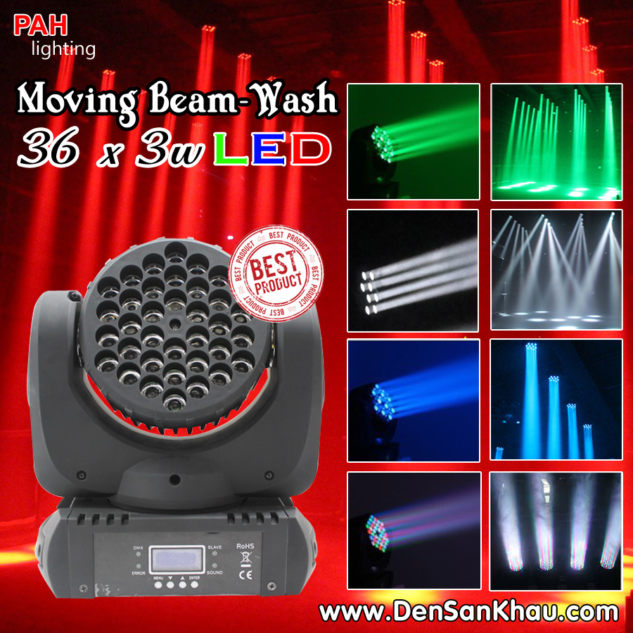 Đèn moving head wash LED 36*3w RGBW