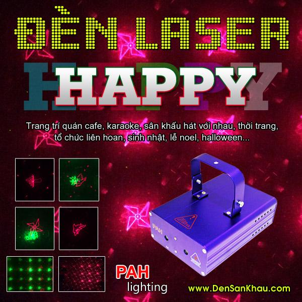 Máy chiếu laser Happy kết hợp nhiều hiệu ứng