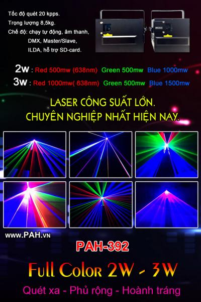 Laser 2w - 3w full color