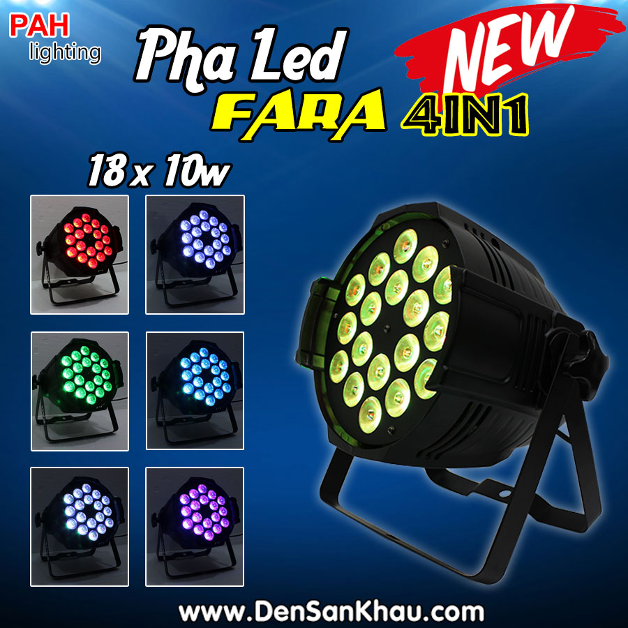 Đèn pha FARA 4in1 18 x 10w LED