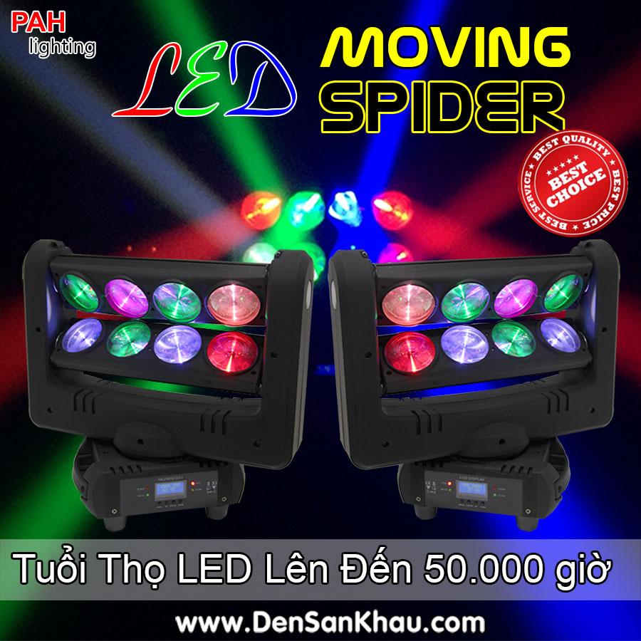 Đèn moving led spider sôi động