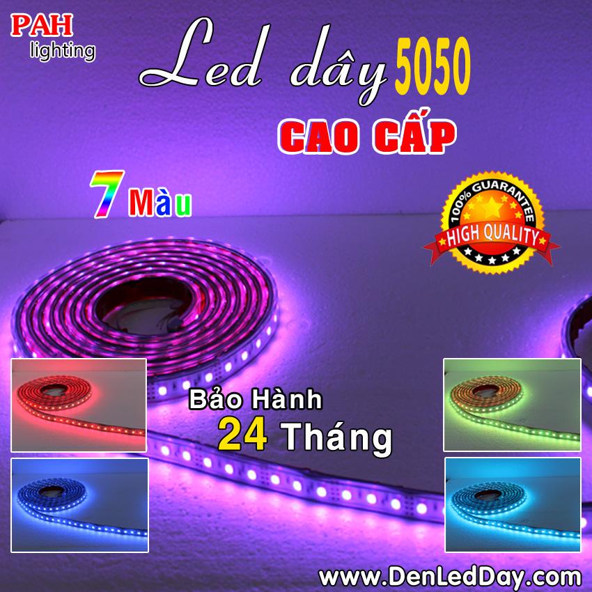 LED dây 5050 7 màu chịu nước