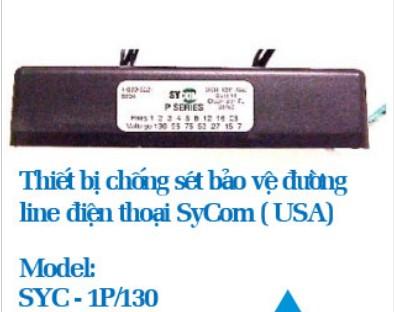 Thiết bị chống sét bảo vệ line điện thoại Sycom SYC-1P/130