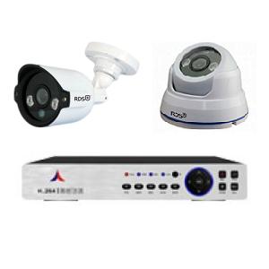 Bộ 2 camera Dome + Thân hồng ngoại 700TVL RDS